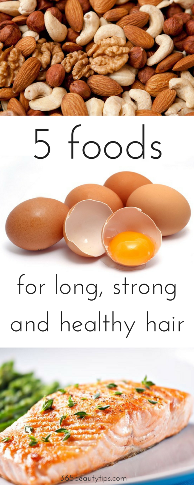 5 foods for long healthy hair -365-beauty-tips