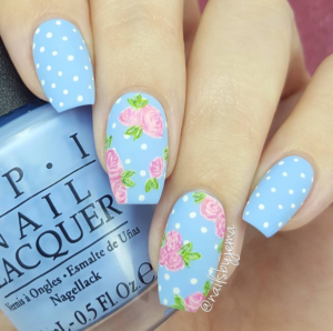floral-nails-365beautytips