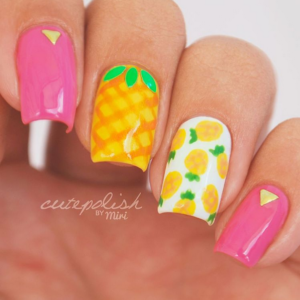 pineapple-nails-365beautytips
