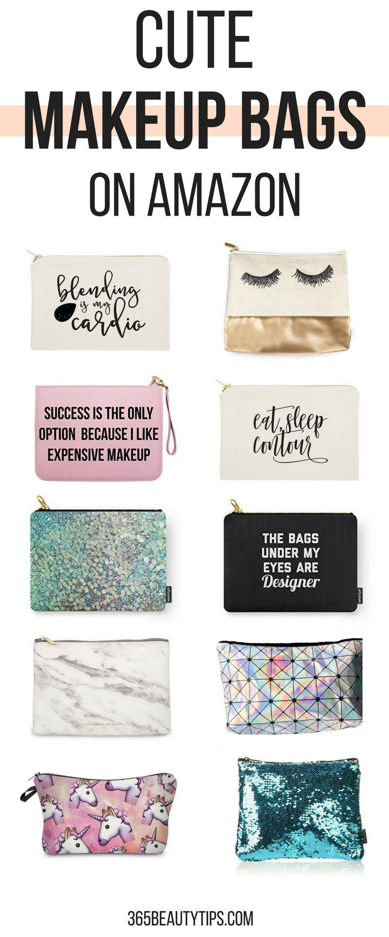 Cute makeup bags on Amazon
