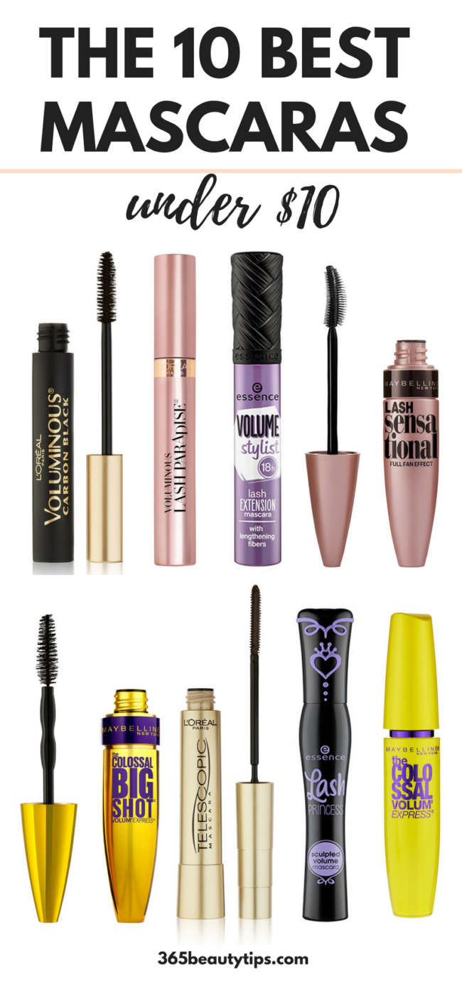fd0d83963a2 The Best Drugstore Mascaras - Top 10 Under $10 - 365BeautyTips