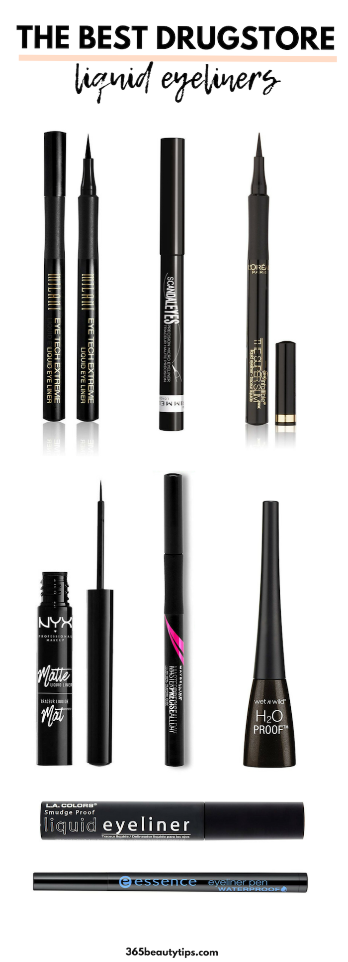 The Best Drugstore Liquid Eyeliners 365beautytips