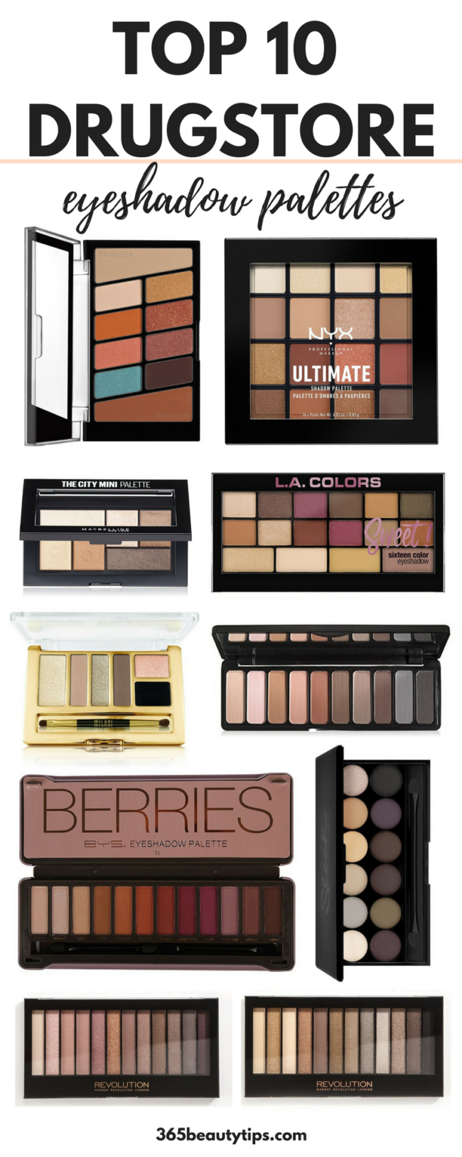 The Best Drugstore Eyeshadow Palettes - 365BeautyTips
